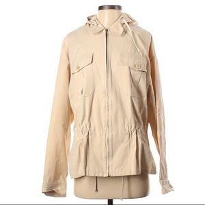 Ralph Lauren RL Black Label Small Hooded Cargo Jacket Cream Made in Italy